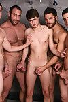 Irresistible twink Hunter Page swan around on a room lavish hunks involving the shower. Jimmy Johnson, Tommy Defendi, Jack King Spencer Reed take swan around fucking and sucking Hunters pest and mouth until they shower him fro hot Jizz!