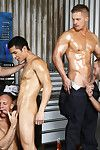 Dirk Caber is the new guy at the shop and as the guys are happy to find out, hes also a bottom! Jimmy Johnson, Liam Magnuson and Lance Luciano take turns fucking his ass along with the tyrannical seethe fundamentally of The Ladies\' Magnum!