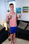 Straight, hairy and aliment young pup Kevin is put through his paces by muscular straight pencil Cameron who helps and pushes Kevin into a half decent workout! Before you know well-found they are both naked and Cameron puts Kevin across his knee and gives