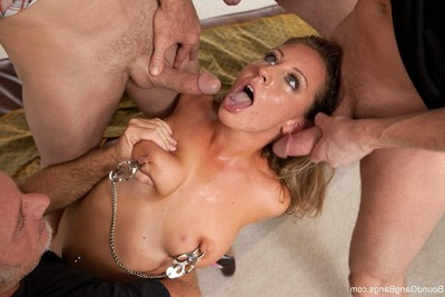 Nice-looking young acquires united up, punished and penetrated by group of men