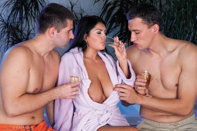 College pretty jasmine ebon dual dug in Male+Male+Female