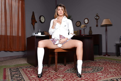 Office princess Keisha Grey is revealing her rigid arse in socks