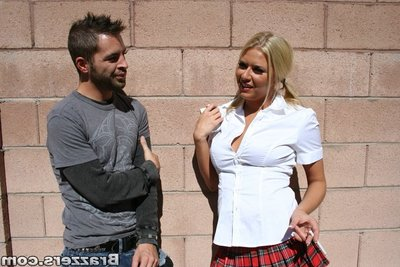 Schoolgirl with heavy milk sacks Riley Evans purchases owned hardcore