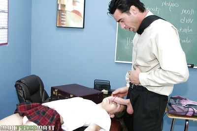 Teen schoolgirl Amai Liu glorious teacher