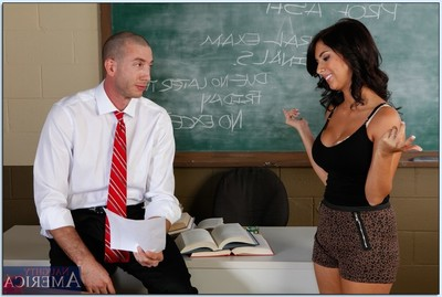 Bawdy coed Evi Fox purchases dug by her teacher in the classroom