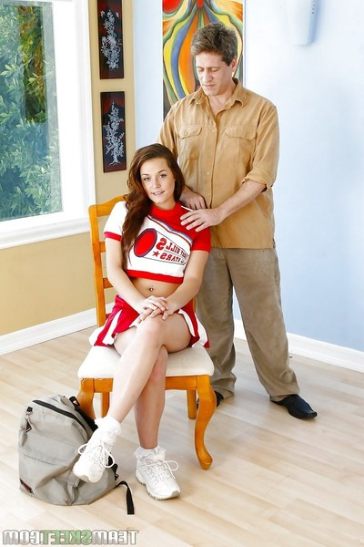 Decent young cheerleader Talia Palmer is boffed by placid dude