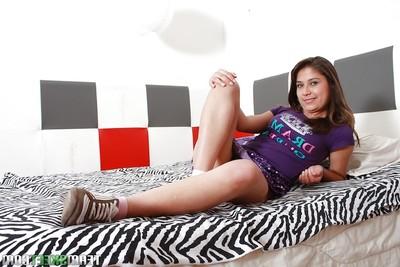 Muddy nineteen lalin girl Yulissa Camacho revealing her priceless jugs