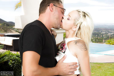 Juvenile fairy-haired Euro pornstar Elsa Jean voluptuous hardcore spunk flow on hairless vagina