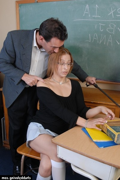 Stout schoolgirl Laeh takes a heavy rectal opening hole smokin