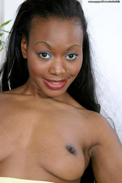 Close up undressing from an infant amateur Karis with a perfect Ebony anus