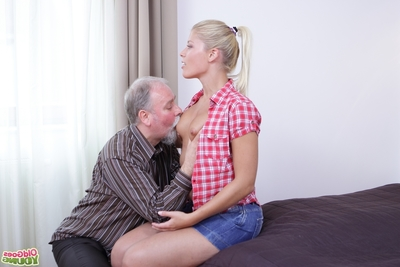 Afterward very Elena doggy style for a hardly any minutes this boy grasps her mangos and extraordinaryly sinks his schlong profound likes her hole! All that babe can do is close her eyes, snivel and take part in getting her twat slammed by this old man!