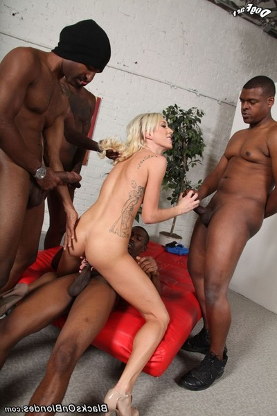 Maia davis receives group-fucked