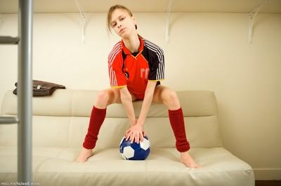 Amateur bawdy soccer devotee
