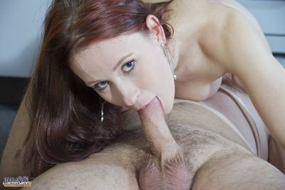 The raunchy adolescent lost her husband and yearns a place to stay so Oldje offered her his place. Who could abandon such a appealing redhead! She