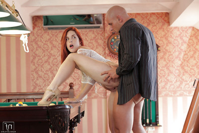 Gentle young Amarna Miller is screwed by smooth head stallion on the pool table