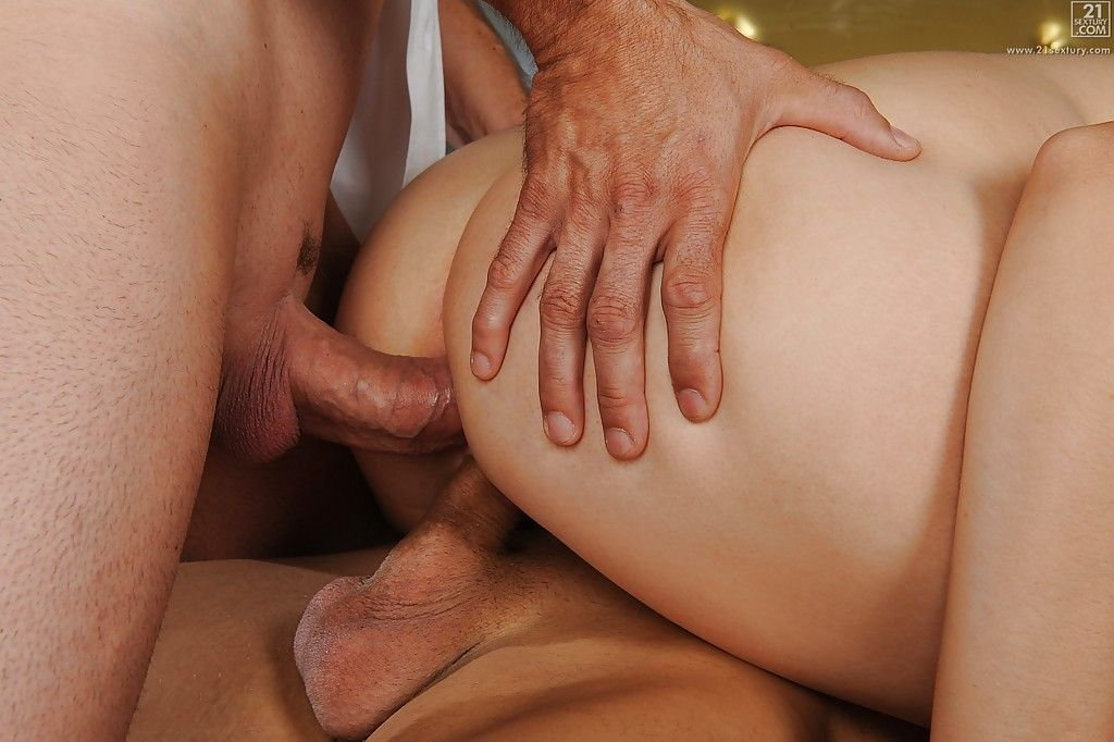 The gentleman European adolescent Marina Visconti fascinating hardcore two fucking one