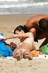 Untamed teenies as mother gave birth at a public beach