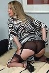 Sexually aroused housewife plays