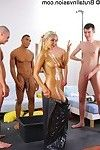 Amateur russian fairy-haired andrea sultisz got gullet group-bonked and jizzed