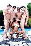Damp Japanese jade sin gains gang team-fucked in the pool