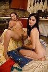 Sweaty amateur princesses playing with toys and every othe3r