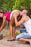 Latin hottie katia takes phallus in her chop and apple bottoms outdoors