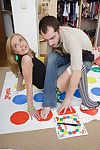 Adolescent acquires hungry playing twister and ends being dug