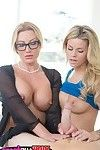 Swanky golden-haired milf Jennifer Top and adolescent Jennifer Top got huge dick.