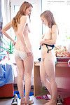 Fresh chicks Laney and Caisa experiment with infant female-on-female love making doing
