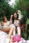 Vera K is having a priceless female-on-female fucking with her girlfriend outdoors