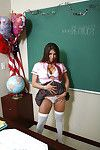 Schoolgirl vast tit dark hair infant Rachel showing her appealing body and cunt