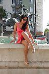 Magnificent amateur amateur lass Vijaya Singh widening her legs outdoors