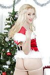 Teen fairy-haired Harley Q is agreeable off her beautiful Christmas outfit!