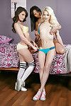 Simply legal queens Elsa Jean, Gia Paige and Gina Valentina pose exposed