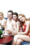 Ball batter lustful coeds participate a drunk groupsex get-together with excited friends