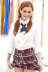 Alice Green likes striptease off her stiff little school pretty outfit