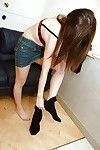 Shy teen-age eastern spectacular Mutsumi Kashiwagi uncovering her seductive curves