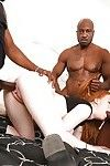 Kierra Wilde enjoys an Interracial orgy with 3 ebony dick-holders