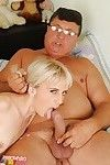 Slutty 19 prostitute licks an oldman\'s booty and attains slammed hardcore