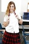 Undressing cutie Jenna Ashley is caught on cam in her school uniform