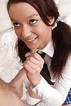 Teenage year old schoolgirl wench Daniela E winning sperm stream in gullet