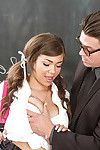 Amateur and buxom Teen-age year old courtesan Cassidy Banks smokin\' her schoolteacher