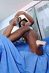 Close up jerking off scene with an young Black amateur Katana