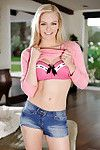 Hawt smiling juvenile fairy-haired Alli Rae is showing off her elegant boobies