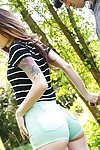 Lascivious redhead young Misha Cross stumbling upon a unrefined in the woods