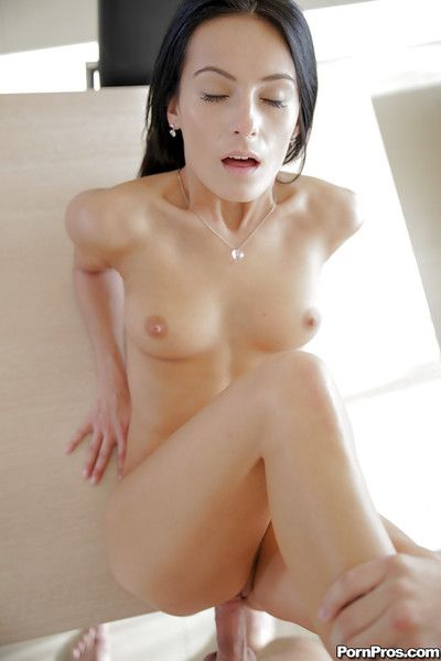 Fragrant dark-haired beauty is procurement anally drilled in her holes
