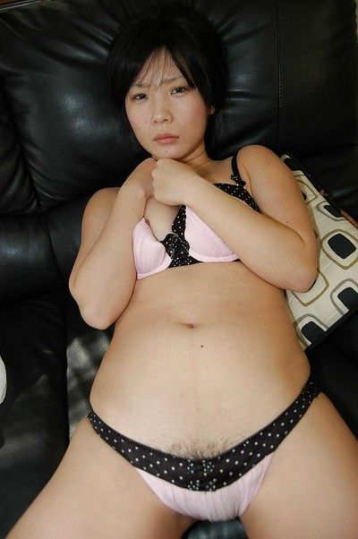 Dim Witted Asian Teen Undressing And Teasing Her Slit Under Her Panties