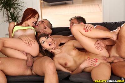 Close up groupsex features hot European boyhood Susana Melo and Susan Ayn