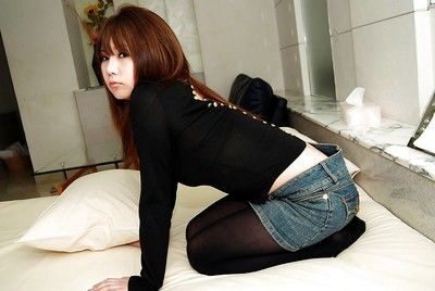 To the rear teenage asian infant Mutsumi Kashiwagi uncovering her luring curves