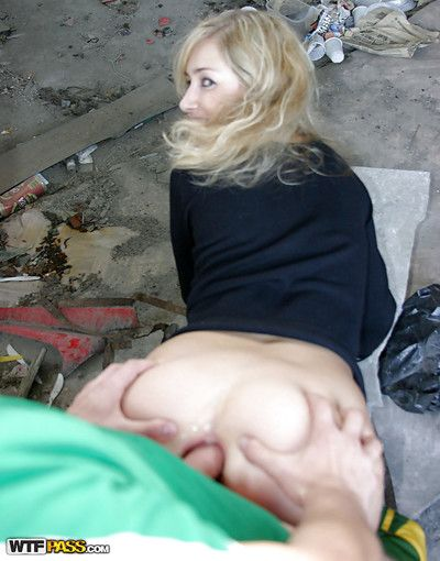 Sinful amateur with respect to closed bosom has some dirty entertainment with respect to duo horny guys outdoor